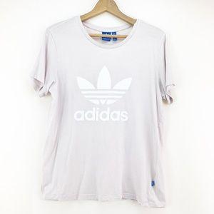 Adidas Pink Logo Crew Neck T-Shirt Small